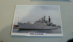 1976 HMS Glasgow Destroyer  warship framed picture